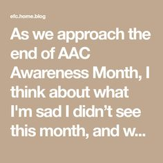As we approach the end of AAC Awareness Month, I think about what I'm sad I didn't see this month, and what I'm sad about all year. There are opportunities I want kids to have, ideas that I want to be commonplace. I feel powerless to spread them. I know I don't do well working… I'm Sad, Feelings, Kids, I Am Sad, Young Children, Boys, Children, Boy Babies, Child