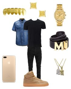 """Some light "" by chiefkeefsosaa on Polyvore featuring AFS JEEP, Balmain, Simplex Apparel, NIKE, Lacoste, MCM, Roial, men's fashion and menswear"