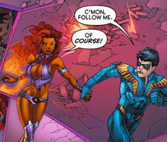 Robin and Starfire Robin Starfire, Starfire Comics, Teen Titans Starfire, Nightwing And Starfire, Young Justice Characters, Robin The Boy Wonder, Raven Beast Boy, Dc Couples, Cartoon Network Shows