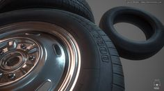 Tire Set - 1, Jacob Norris on ArtStation at http://www.artstation.com/artwork/tire-set-1