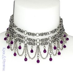 The is a GORGEOUS Chainmaille Necklace!