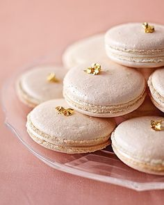 Sparkling Macarons from Martha Stewart Weddings
