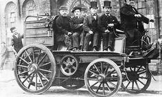 """specialcar: """"A steam driven Victorian fire engine with """"crew"""" aboard. (Photo by General Photographic Agency/Getty Images). 1879 """""""