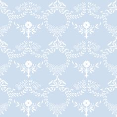 """Laura"" in blueberry for fabric, wallpaper and gift wrap by lilyoake on Spoonflower - print on demand!"