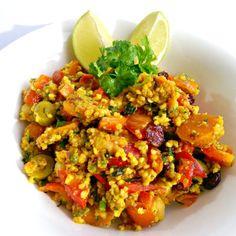 Orientalna salatka z kasza jaglana