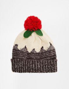 christmas beanie hat | ASOS | ASOS Christmas Pudding Beanie Hat at ASOS