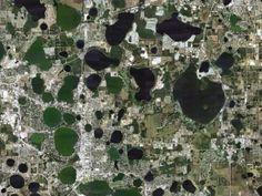 Central Florida sinkhole scarred landscape