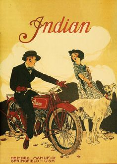 Indian Motorcycle Ad Poster