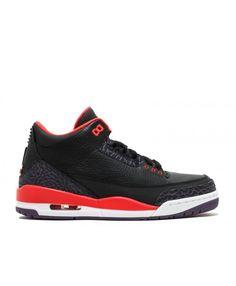 Air Jordan 3 Retro Crimson Black Brght Crmsn Cnyn Prpl Pr 136064 005 Air Jordan 3, Air Jordan Shoes, Retro Shoes, Jordans, Sneakers Nike, Footwear, Men, Shopping, Black