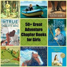 Girls like to read about a lot more than princesses and popularity: check out this list of more than fifty adventurous books with exciting, edge-of-your seat action written with girls in mind! (from the Jenny Evolution)