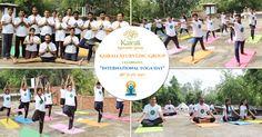 International Yoga Day celebrated at Kairali Ayurvedic Group, Mehrauli, Delhi with full fervor and enthusiasm Ayurvedic Healing, Ayurveda, International Yoga Day, Yoga Teacher Training, Asana, Consciousness, Dolores Park, June, Management