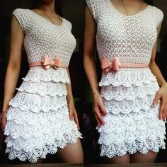 crochet dress, crochet blouse, skirt crochet ... Crochet is chic! - Free…