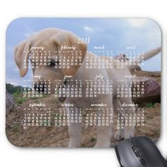 Dog Calendar 2018 Personalized Mouse Pad  $12.25  by online_store  - cyo diy customize personalize unique