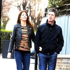 EXCLUSIVE Noel Gallager takes a stroll with his wife Sara in North London