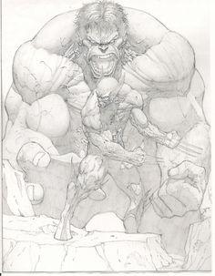 Hulk vs Wolverine vy Scott Clark RIP