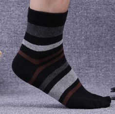 socks ship ankle toe cotton Polyester strip patchwork for men man male boy 26-28cm free size spring autumn winter wh