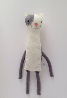 yes, this kitty has nipples. Plush Nipple Kitty Friend- Finkelstein's Center Handmade Creature