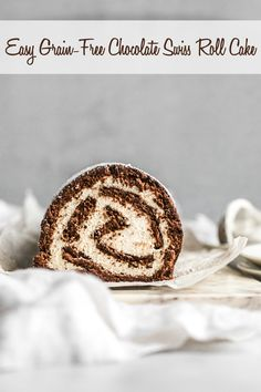 Chocolate Swiss Roll Cake (Grain-Free, Paleo)