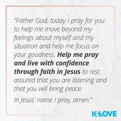 Join us each day for 30 days of Prayer! Powerful Scriptures, Encouraging Bible Verses, Bible Quotes, Good Morning Prayer, Morning Prayers, Wednesday Prayer, K Love Radio, Yes And Amen, Brene Brown Quotes
