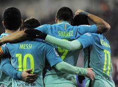 Barcelona sigue a la caza del Real Madrid gracias al trío Messi-Suárez-Neymar