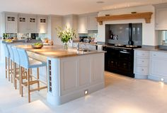 Kitchens Harrogate Atelier by Charlie Smallbone Kitchens Picture Open Plan Kitchen Dining Living, Open Plan Kitchen Diner, Kitchen Dinning Room, Home Decor Kitchen, Country Kitchen, Kitchen Interior, Home Kitchens, Kitchen Design, Kitchen Ideas