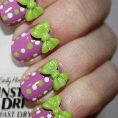 3D Kawaii ~~ Place bright 3D decals on already bold nails for an over-the-top look.