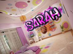 Bedroom Graffiti Wallpaper Stickems for boys and girls Kids Bedrooms