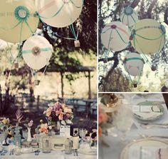 mesa de comida inspiração balões
