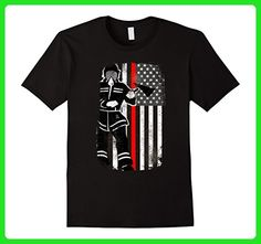 Mens Thin Red Line Firefighter Axe American Flag Patriot T-Shirt XL Black - Careers professions shirts (*Amazon Partner-Link)