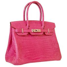 PINK crocodile Berkin bag! Hermes. I will only ever dream of having one of these... :-(