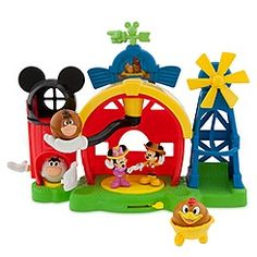 Mickey Mouse Barnyard Farm Playset, ages 2 years and up.