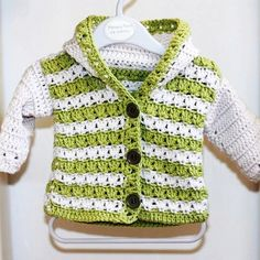 Crochet PATTERN (pdf file) - Sorrento Hooded Cardigan (now available for 3-6, 6-9, 9-12 months)