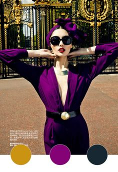 Zack Zhang for Harper's Bazaar_gold_fuschia_navy