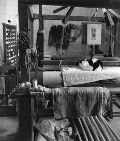 Robert Doisneau - Tapestry // Dans l'atelier de Jacques Plasse le Caisne 3 septembre 1965