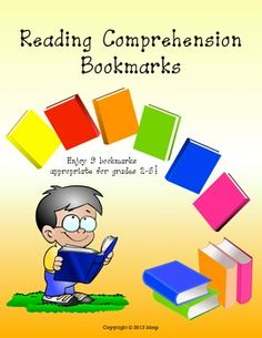 Reading Comprehension Strategy bookmarks. Try out these 9 different bookmarks to provide readers practice with comprehension strategies. FREE!!!
