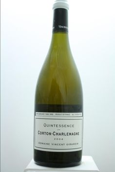 Vincent Girardin (Domaine) Corton-Charlemagne Cuvée Quintessence 2004. France, Burgundy. 6 Bottles á 0,75l. Price realized (9/2016): 600 USD (100 USD/bottle).
