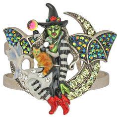 Kirks Folly Witchcraft Fairy Halloween Cuff Bracelet-Antique Silvertone-Average #KirksFolly #Cuff