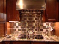 HGTV Stainless Steel Tile Installation (Metal Tile Co)