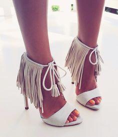 5e7406f0f7e0ad Zara ecru fringed high heel sandals shoes with tassel eur us uk 8