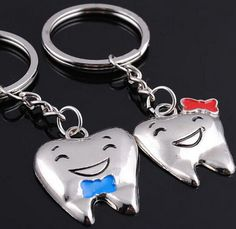 FD1141 Cute Smiling Teeth Metal Keychain Keyring Keyfob Key Ring ~1 Pair 2pcs~ | Collectibles, Pez, Keychains, Promo Glasses, Keychains | eBay!