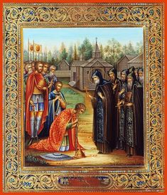 St. Sergius blessing Great Prince Dimitri Donskoy