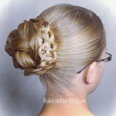 Gorgeous bun from BabesInHairland.com #bun #4strandbraid #hairstyle #longhair