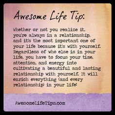 Awesome Life Tip: You're In a Relationship