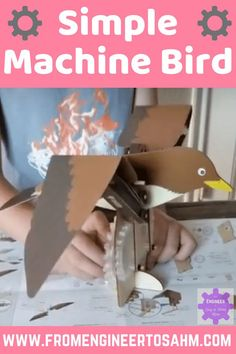 Simple Machine Bird: Levers, Gears, and Birds! - From Engineer to Stay at Home Mom Math Activities For Kids, Steam Activities, Science For Kids, Preschool Science, Science Classroom, Stem Projects, Science Projects, Projects For Kids, Engineering Projects