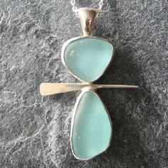Sea Glass Jewelry Sea Glass Pendant in Aqua by MonicaBranstrom