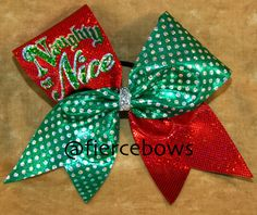 Christmas Cheer Bow by MyFierceBows on Etsy, $13.00