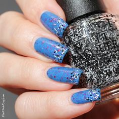 SuperChic Lacquer Second Star To The Right & OPI I'll Tinsel You In