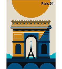 "bolundberg's Instagram profile post: ""A new print from the #aroundtheworld collection #paris #eiffeltower #archedetriomphe #print #poster #illustration #artwork #vectorart…"" New Print, Paris Travel, Travel Posters, Mtv, Paris France, Vector Art, Coca Cola, Around The Worlds, Artwork"
