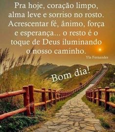 Bom Dia! E Farm, Peace Love And Understanding, Peace And Love, Railroad Tracks, Country Roads, Outdoor, Emoji, Sign, Memes