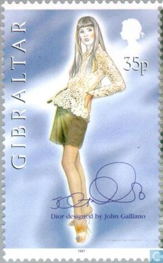 Postage Stamps - Gibraltar - John Galliano fashion